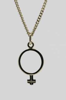 Gouden Vrouwenteken ketting hanger