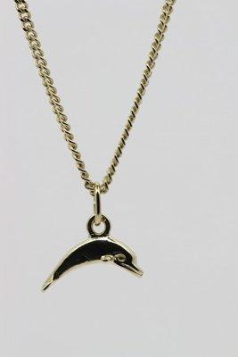 Gouden Dolfijn ketting hanger