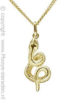 Gouden Slang ketting hanger