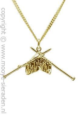 Gouden Breiwerk ketting hanger