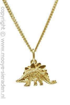 Gouden Dinosaurus ketting hanger