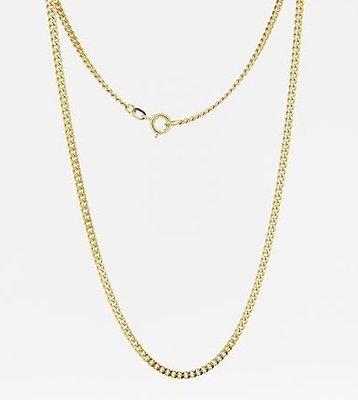 Gouden Gourmet ketting 1. zeer fijn - dikte 1,0 mm - 42/45/50 cm