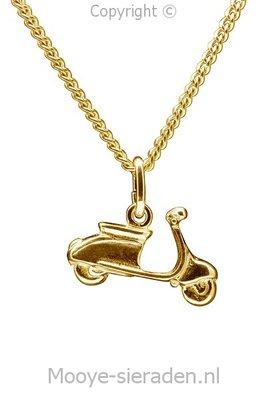 Gouden Scooter ketting hanger