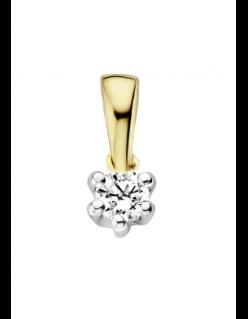 Gouden hanger klassiek met diamant