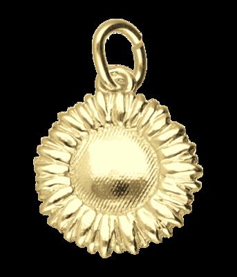 Gouden Zonnebloem ketting hanger