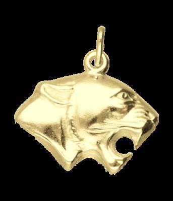 Gouden Panter kop ketting hanger