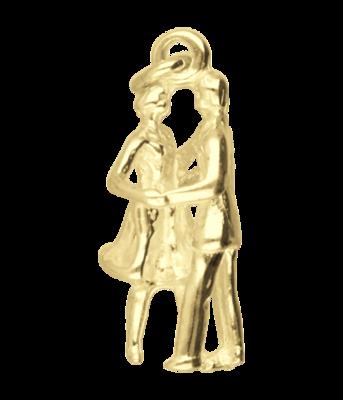 Gouden Danspaar ketting hanger