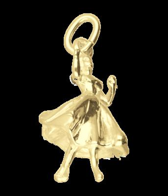 Gouden Danseres Ballroom ketting hanger