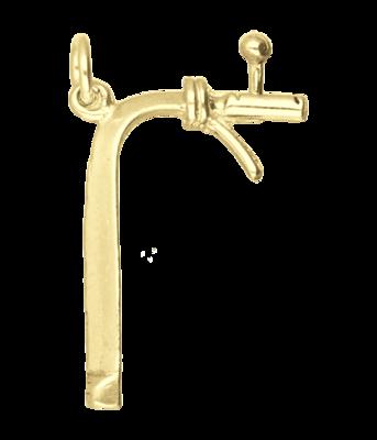 Gouden Biertap ketting hanger
