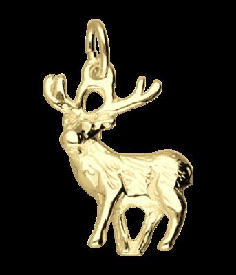 Gouden Hert ketting hanger