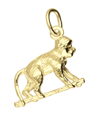 Gouden aap ketting ketting hanger