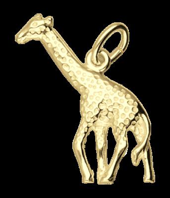 Gouden Giraf ketting hanger