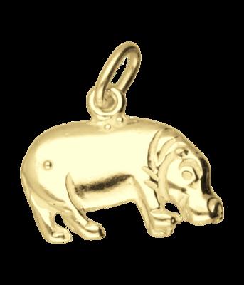 Gouden Nijlpaard ketting hanger