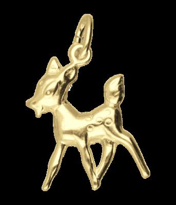 Gouden Hert jong ketting hanger
