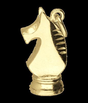 Gouden Schaakstuk paard ketting hanger