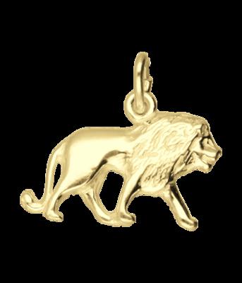 Gouden Leeuw ketting hanger