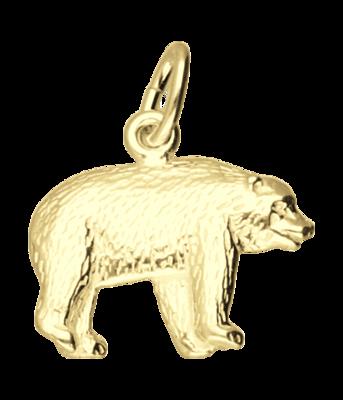 Gouden IJsbeer ketting hanger