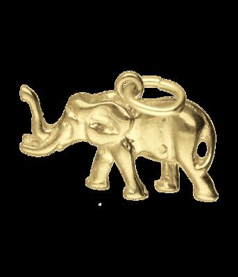 Gouden Olifant ketting hanger