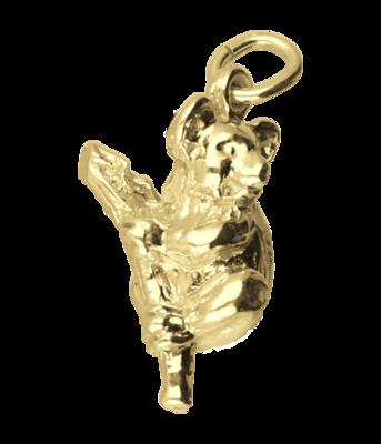 Gouden Koala beer op tak ketting hanger