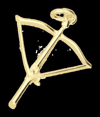 Gouden Kruisboog ketting hanger