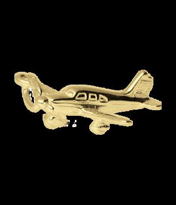 Gouden Vliegtuig ketting hanger