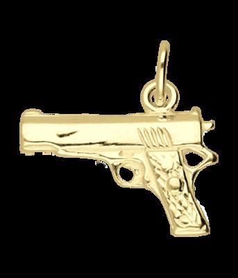 Gouden Pistool ketting hanger