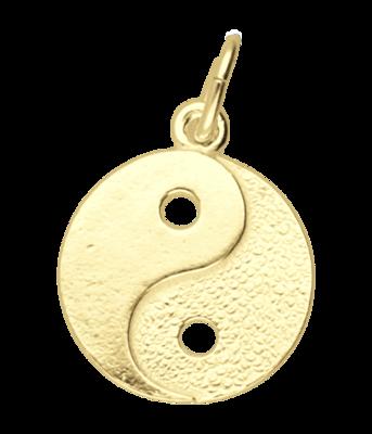 Gouden Yin Yang klein ketting hanger