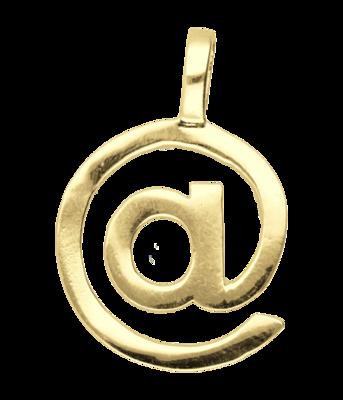 Gouden @ At groot ketting hanger
