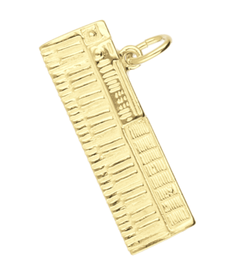 Gouden Keyboard groot ketting hanger