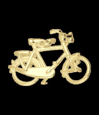 Gouden Herenfiets ketting hanger