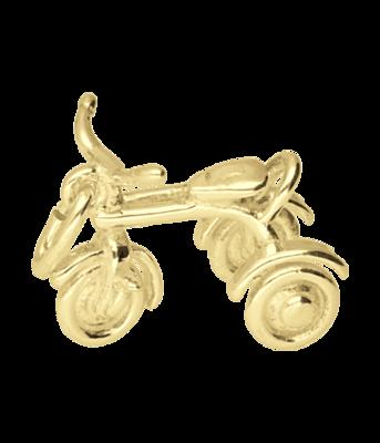 Gouden Driewieler ketting hanger