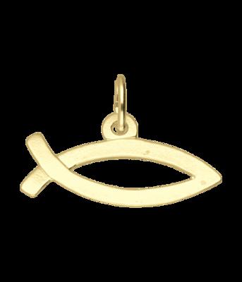Gouden Ichtusvis ketting hanger