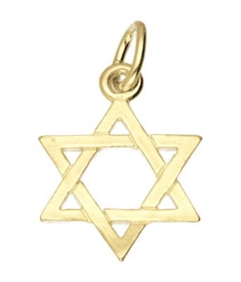 Gouden Davidster klein ketting hanger