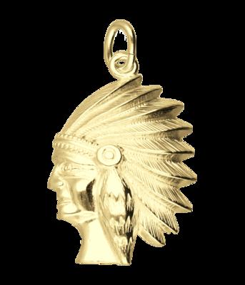 Gouden Indiaan ketting hanger