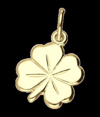 Gouden Klaverblad ketting hanger