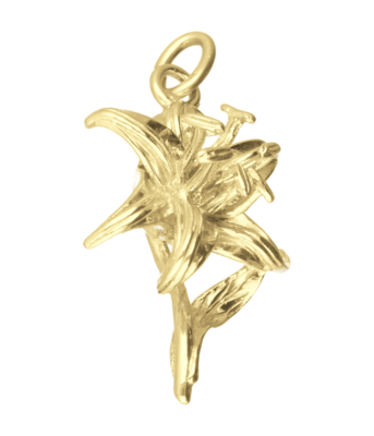 Gouden Lelie ketting hanger