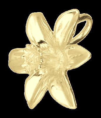 Gouden Narcis ketting hanger