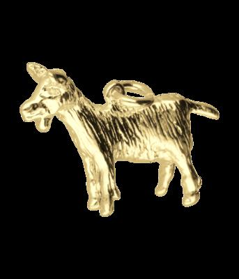Gouden Geit groot ketting hanger