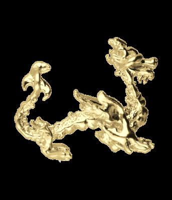 Gouden Chinese draak ketting hanger